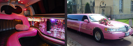 location limousine rose paris mariage. Black Bedroom Furniture Sets. Home Design Ideas